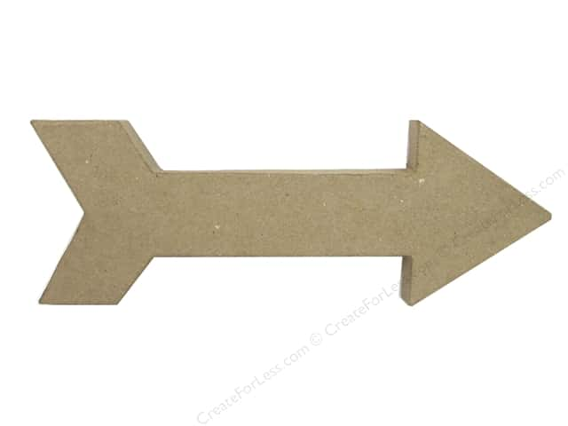 Paper Mache Arrow with Weight 11 1/2 in. by Craft Pedlars