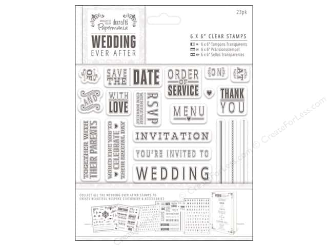 Docrafts Papermania Wedding Clear Stamp Sentiments