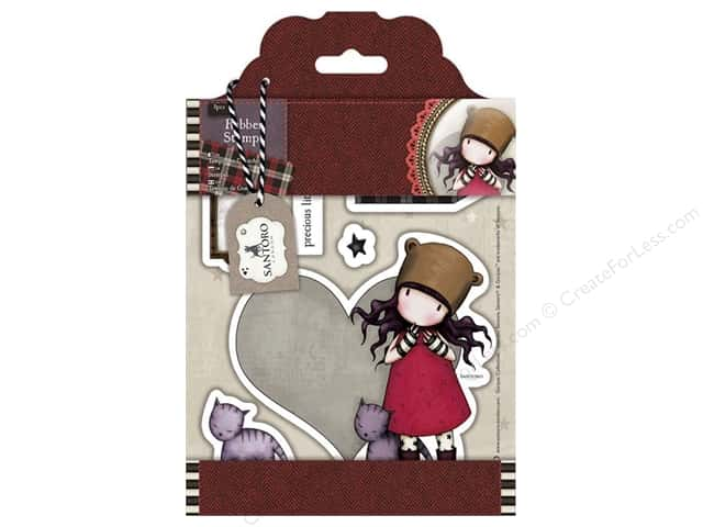 Docrafts Santoro Gorjuss Stamp Tweed Purrrfect Love