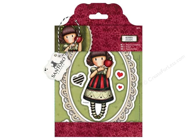 Santoro Gorjuss Collectable Rubber Stamp Dear Apple