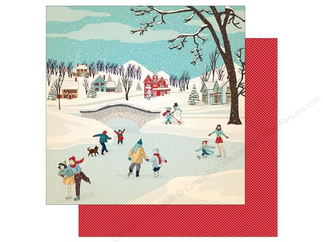 Carta Bella 12 x 12 in. Paper Snow Fun Winter Wonderland (25 sheets)