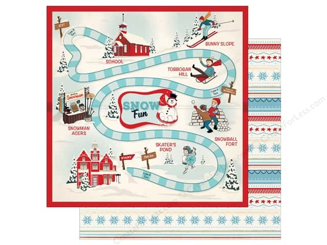 Carta Bella 12 x 12 in. Paper Snow Fun Snow Game (25 pieces)