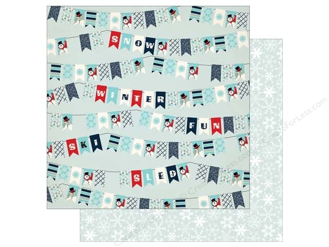 Carta Bella 12 x 12 in. Paper Snow Fun Winter Banners (25 pieces)