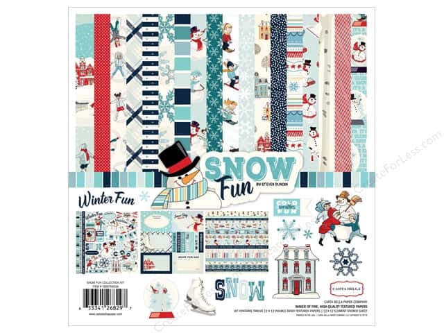 Carta Bella 12 x 12 in. Collection Kit Snow Fun