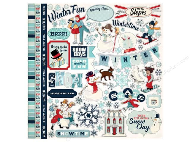 Carta Bella Stickers Snow Fun (15 pieces)