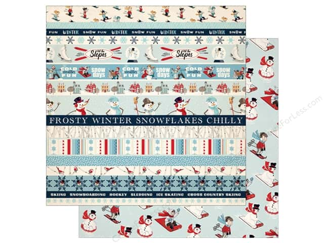 Carta Bella 12 x 12 in. Paper Snow Fun Border Strips (25 pieces)