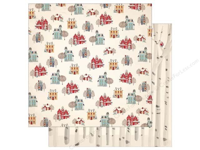 Carta Bella 12 x 12 in. Paper Snow Fun Winter Cottages (25 pieces)