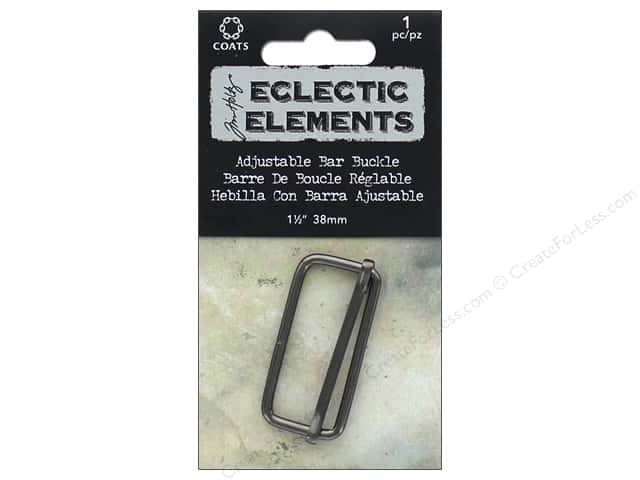 Coats Tim Holtz Eclectic Elements Adjustable Bar Buckle 1 1/2 in. Gunmetal