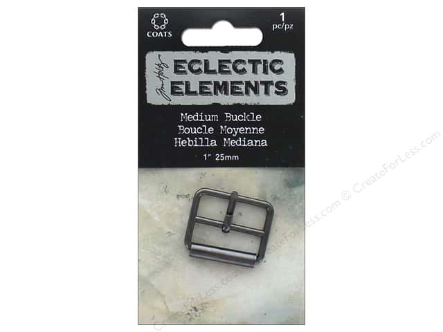 Coats Tim Holtz Eclectic Elements 1 in. Medium Buckle 1 pc. Gunmetal