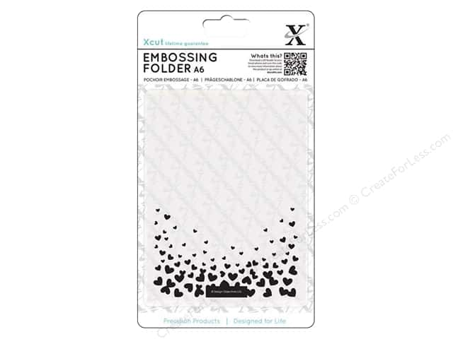Docrafts Xcut Embossing Folder 4 1/2 x 6 1/2 in. Falling Hearts
