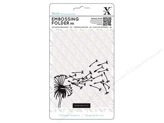Docrafts Xcut Embossing Folder 4 1/2 x 6 1/2 in. Blowing Dandelions