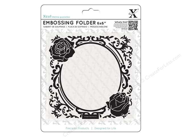 Docrafts Xcut Embossing Folder 6 x 6 in. Rose Frame