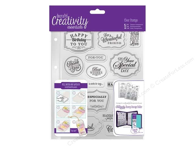 Docrafts Creativity Essentials Clear Stamp Set Traditional Sentiment