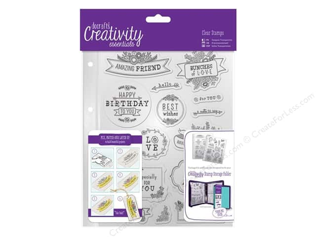 Docrafts Creativity Essentials Clear Stamp Set Folk Sentiment