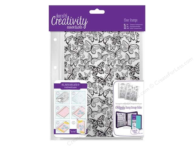 Docrafts Creativity Essentials Clear Stamp Background Butterflies