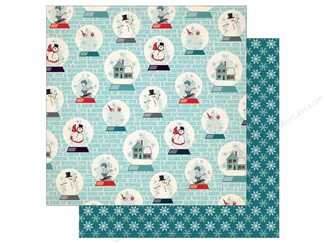 Carta Bella 12 x 12 in. Paper Snow Fun Snow Globes (25 pieces)