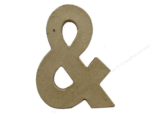 PA Paper Mache Ampersand 6 in.