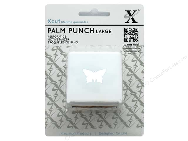 Docrafts Xcut Palm Punch Large 1 in. Pointed Butterfly