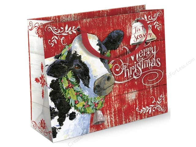 Punch Studio Gift Bag Joy To The Farm Large