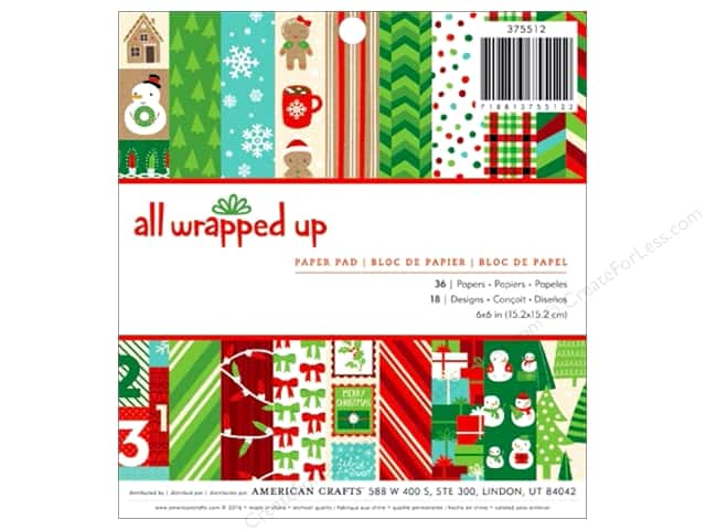 American Crafts 6 x 6 in. Paper Pad All Wrapped Up