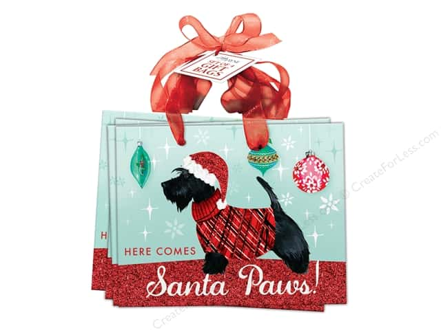 Lady Jayne Gift Bag Sweater Pups Small Set Of 4 Scottie