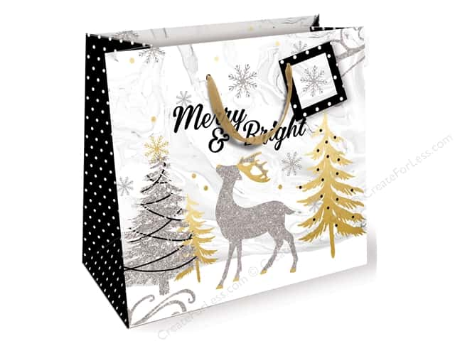 Lady Jayne Gift Bag Winter Glitz Medium Deer