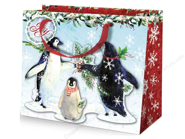 Punch Studio Gift Bag Snowy Penguins Large