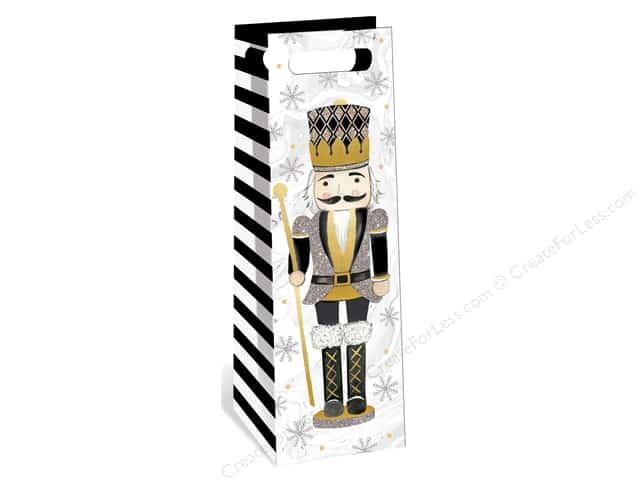 Lady Jayne Gift Bag Winter Glitz Wine Bag Nutcracker