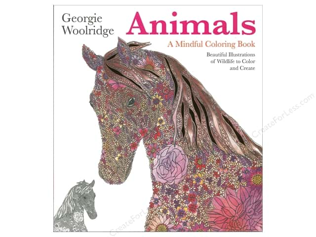 Animals: A Mindful Coloring Book by Georgie Woolridge
