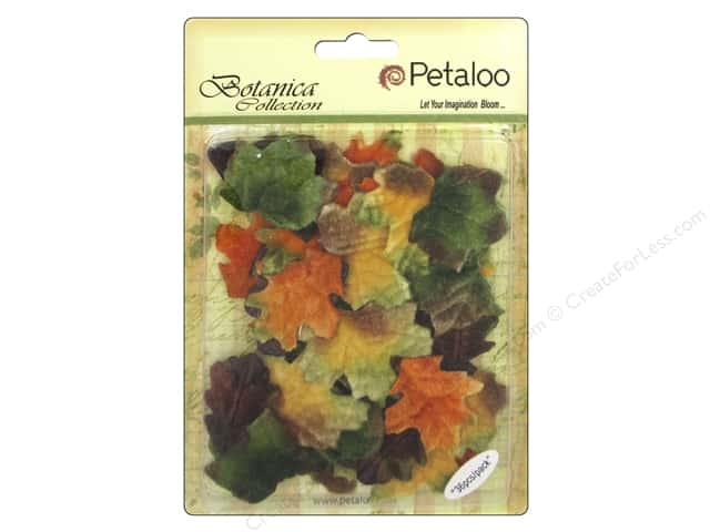 Petaloo Botanica Collection Holiday Velvet Fall Leaves