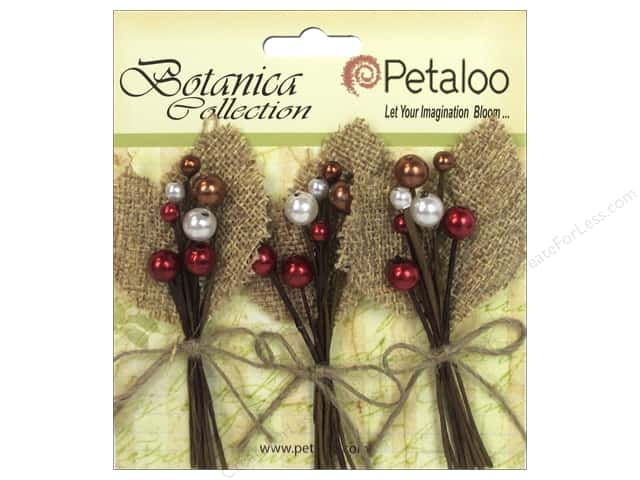 Petaloo Botanica Collection Holiday Pick Burlap Berry