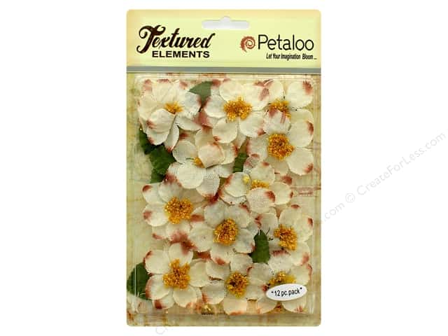Petaloo Textured Elements Briar Rose Canvas Ivory