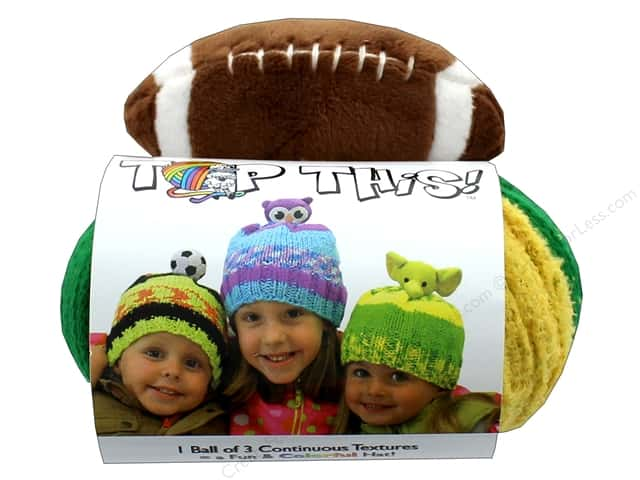DMC Top This Yarn Kit Football Green & Gold