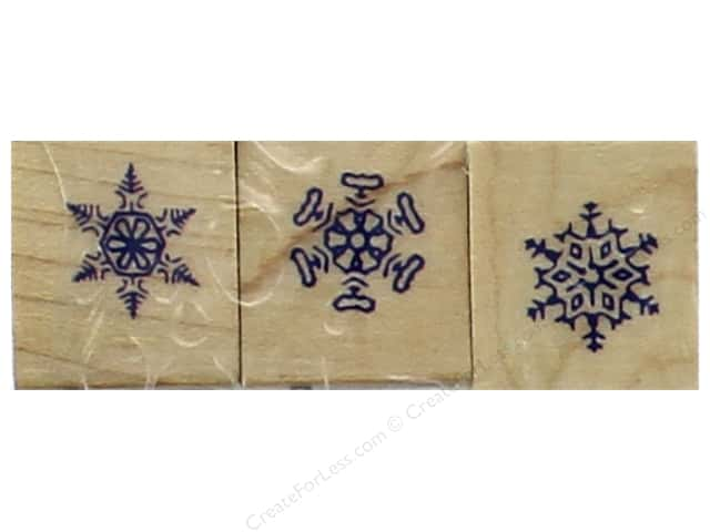 Inkadinkado Wood Stamp Set Snowflakes