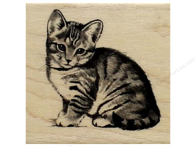 Inkadinkado Wood Stamp Little Kitten