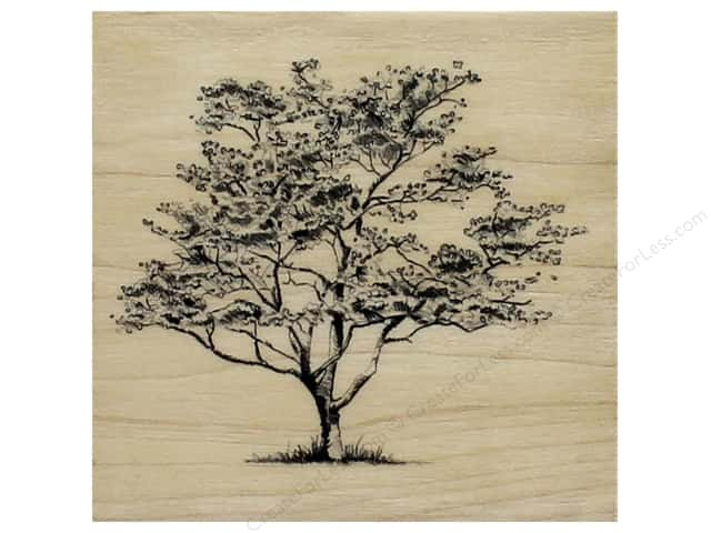 Inkadinkado Wood Stamp Small Dogwood