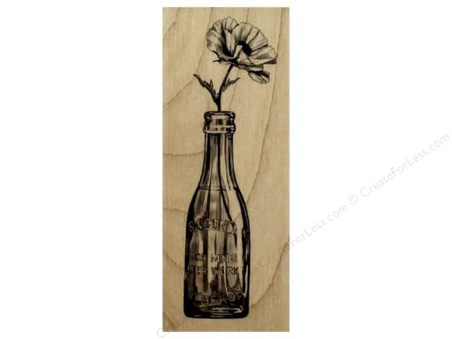 Inkadinkado Wood Stamp Vintage Bottle With Flower
