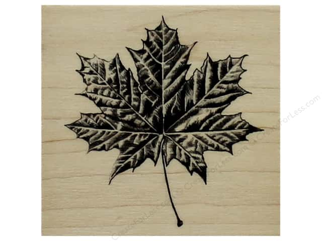 Inkadinkado Wood Stamp Maple Leaf