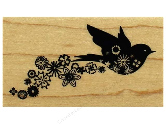 Inkadinkado Wood Stamp Floral Bird Trail
