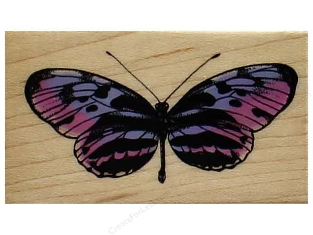 Inkadinkado Wood Stamp Hello Butterfly