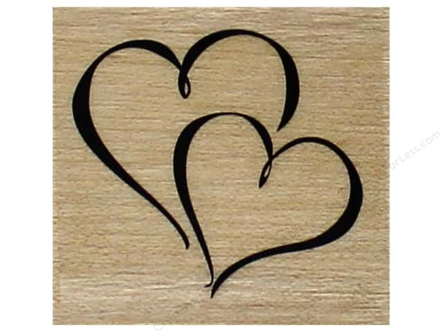 Inkadinkado Wood Stamp Hearts