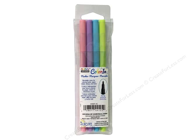 Uchida ColorIn Markers Fine Tip 4 pc. Pastel