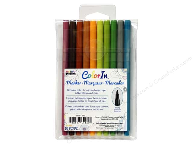 Uchida ColorIn Markers Fine Tip 10 pc. Natural
