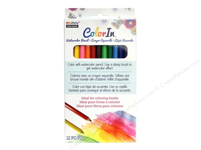 Uchida ColorIn Watercolor Pencil 12pc