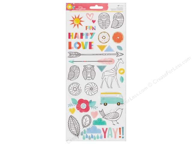 American Crafts Stickers Oh Happy Life Accent & Phrases