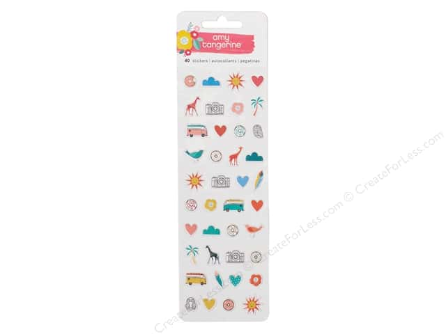 AMC Collection Oh Happy Life Collection Stickers Puffy Mini Icon
