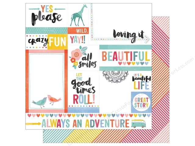 American Crafts 12 x 12 in. Paper Oh Happy Life Yes Please