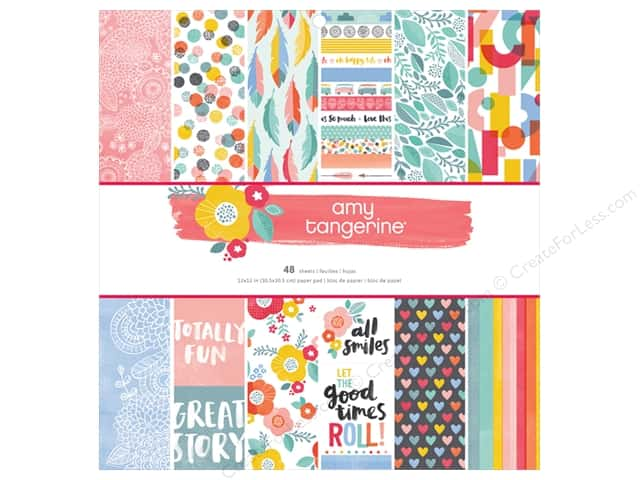 American Crafts 12 x 12 in. Paper Pad Oh Happy Life