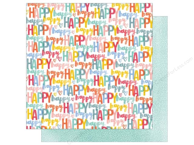 American Crafts 12 x 12 in. Paper Oh Happy Life Happy (25 sheets)