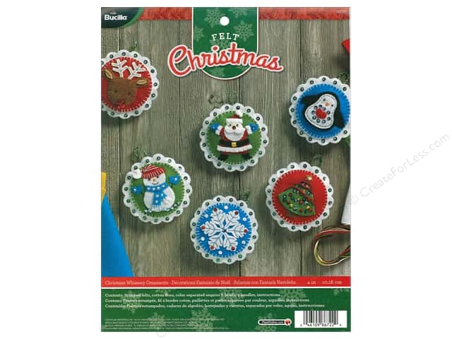 Bucilla Felt Kits Christmas Whimsy Ornaments